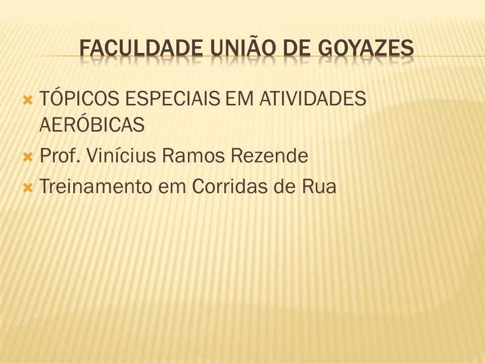 TÓPICOS ESPECIAIS EM ATIVIDADES AERÓBICAS Prof. Vinícius Ramos Rezende Treinamento em Corridas de Rua