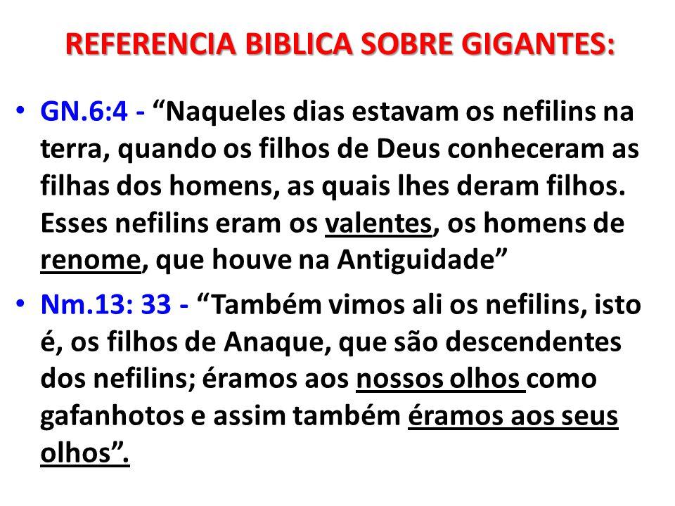 GN.6:4 - Naqueles dias estavam os nefilins na terra, quando os filhos de Deus conheceram as filhas dos homens, as quais lhes deram filhos. Esses nefil