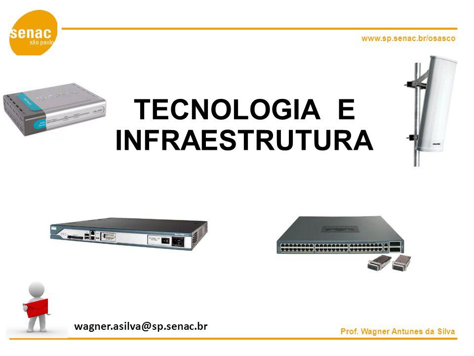 www.sp.senac.br/osasco TECNOLOGIA E INFRAESTRUTURA Prof. Wagner Antunes da Silva wagner.asilva@sp.senac.br