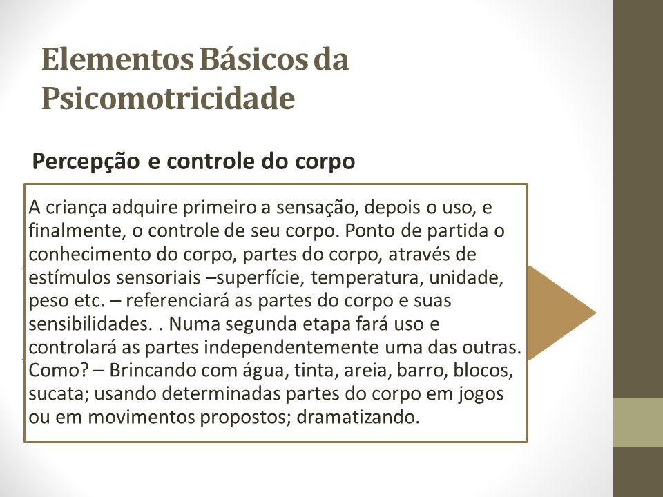 Elementos Básicos da Psicomotricidade O equilíbrio É condição indispensável para qualquer ação diferenciada.