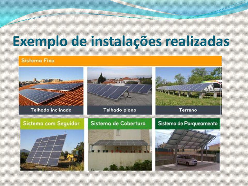 Exemplo de instalações realizadas