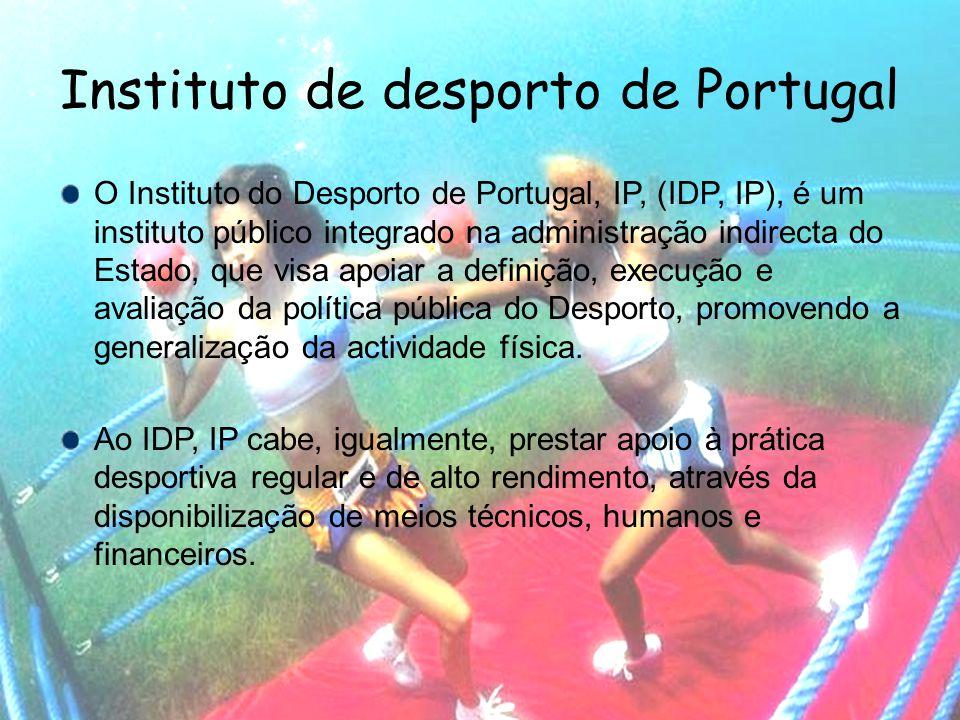 Delegações regionais do IDP O IDP, nasceu da fusão de três instituições ligadas ao desporto.