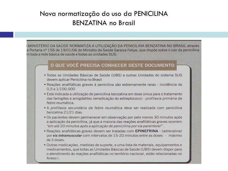 Nova normatização do uso da PENICILINA BENZATINA no Brasil