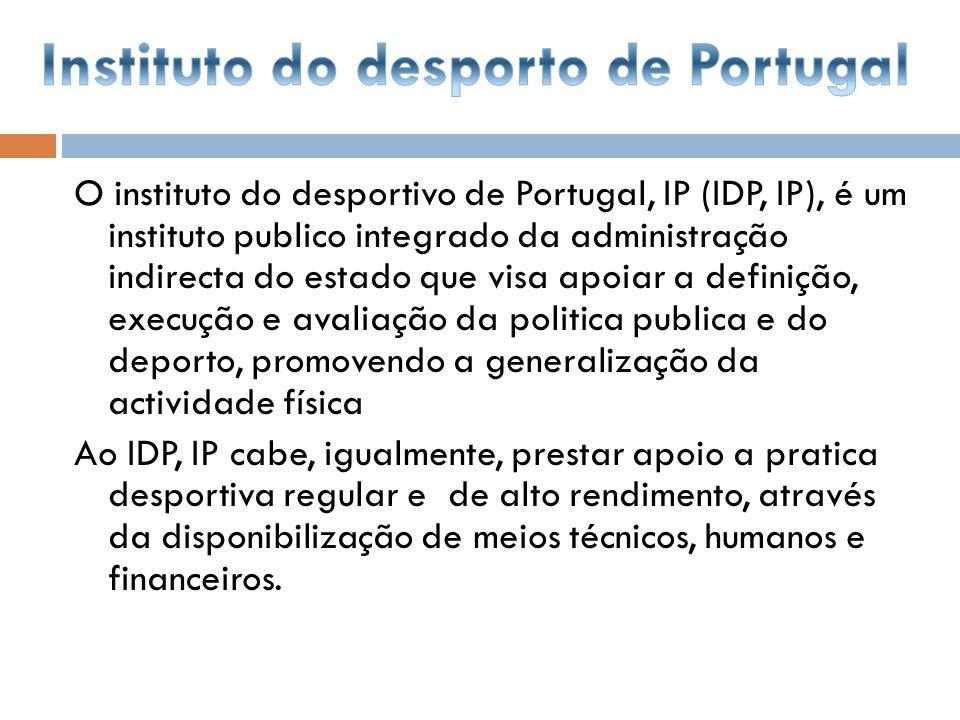 O instituto do desportivo de Portugal, IP (IDP, IP), é um instituto publico integrado da administração indirecta do estado que visa apoiar a definição