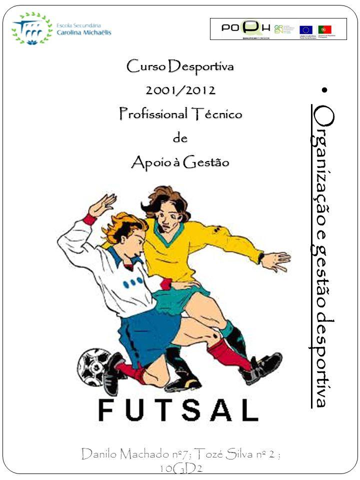 Curso Desportiva 2001/2012 Profissional Técnico de Apoio à Gestão Organização e gestão desportiva Danilo Machado nº7; Tozé Silva nº 2 ; 10GD2