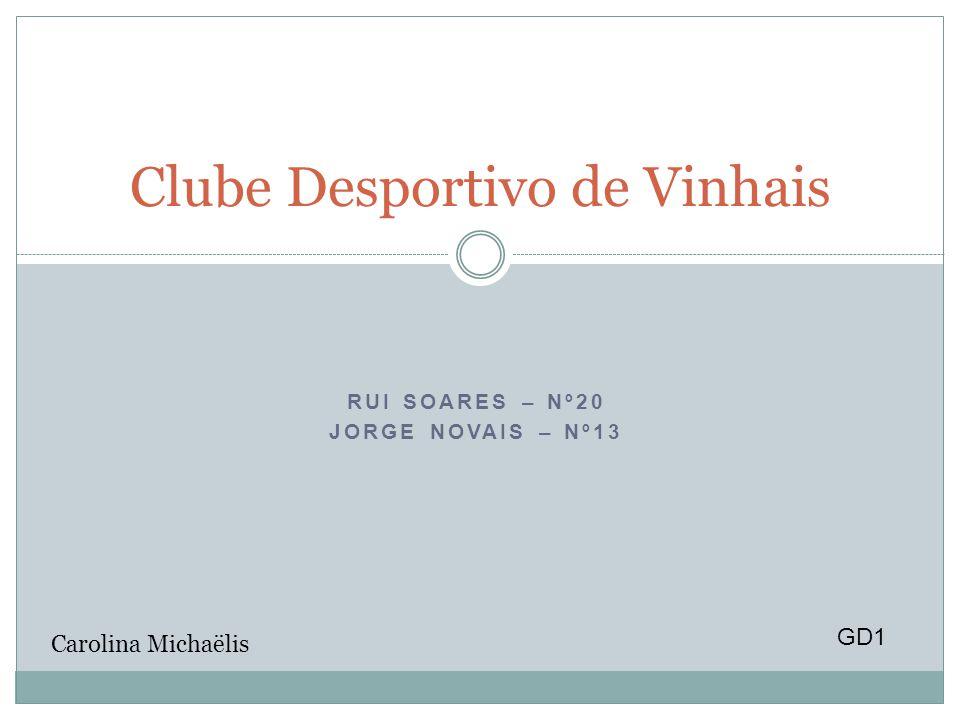RUI SOARES – Nº20 JORGE NOVAIS – Nº13 Clube Desportivo de Vinhais GD1 Carolina Michaëlis
