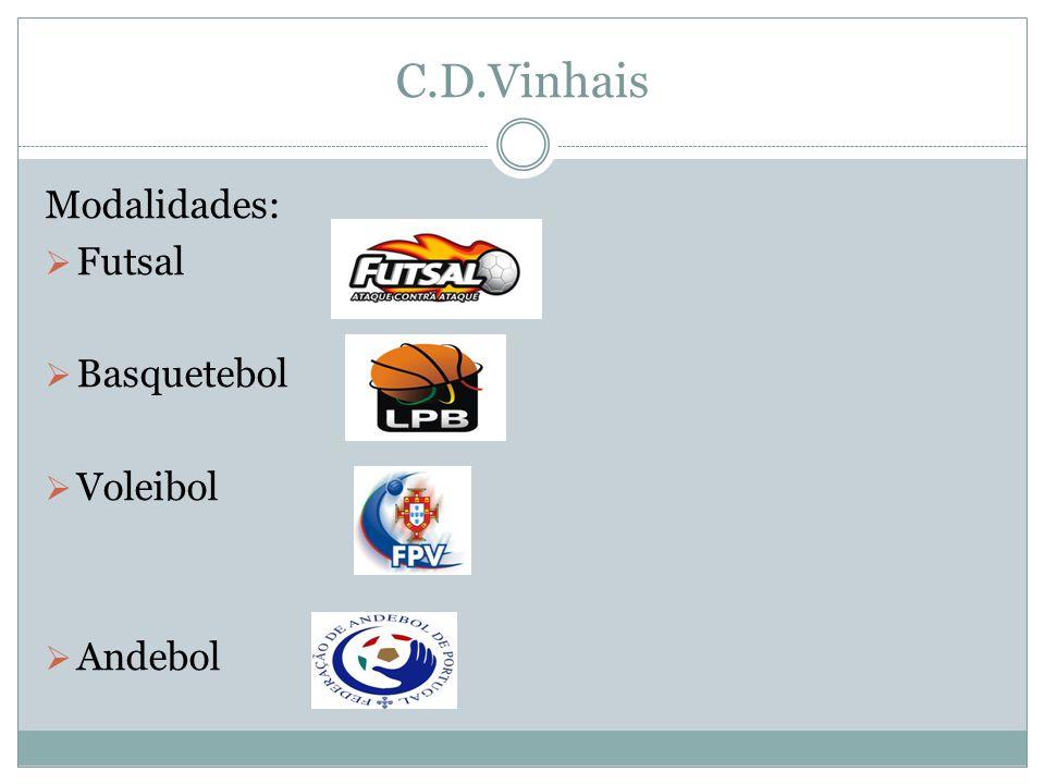 C.D.Vinhais Modalidades: Futsal Basquetebol Voleibol Andebol