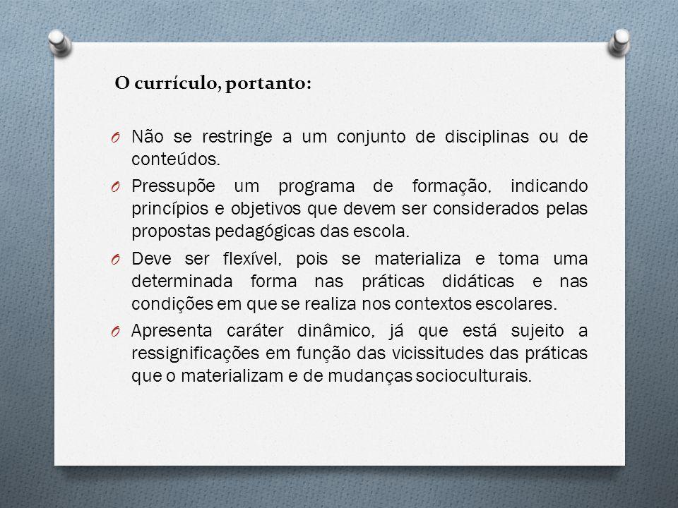 O Currículo Oficial do Estado de São Paulo O Lei de Diretrizes e Bases da Educação Nacional - LDBEN (Lei nº 9394/96).