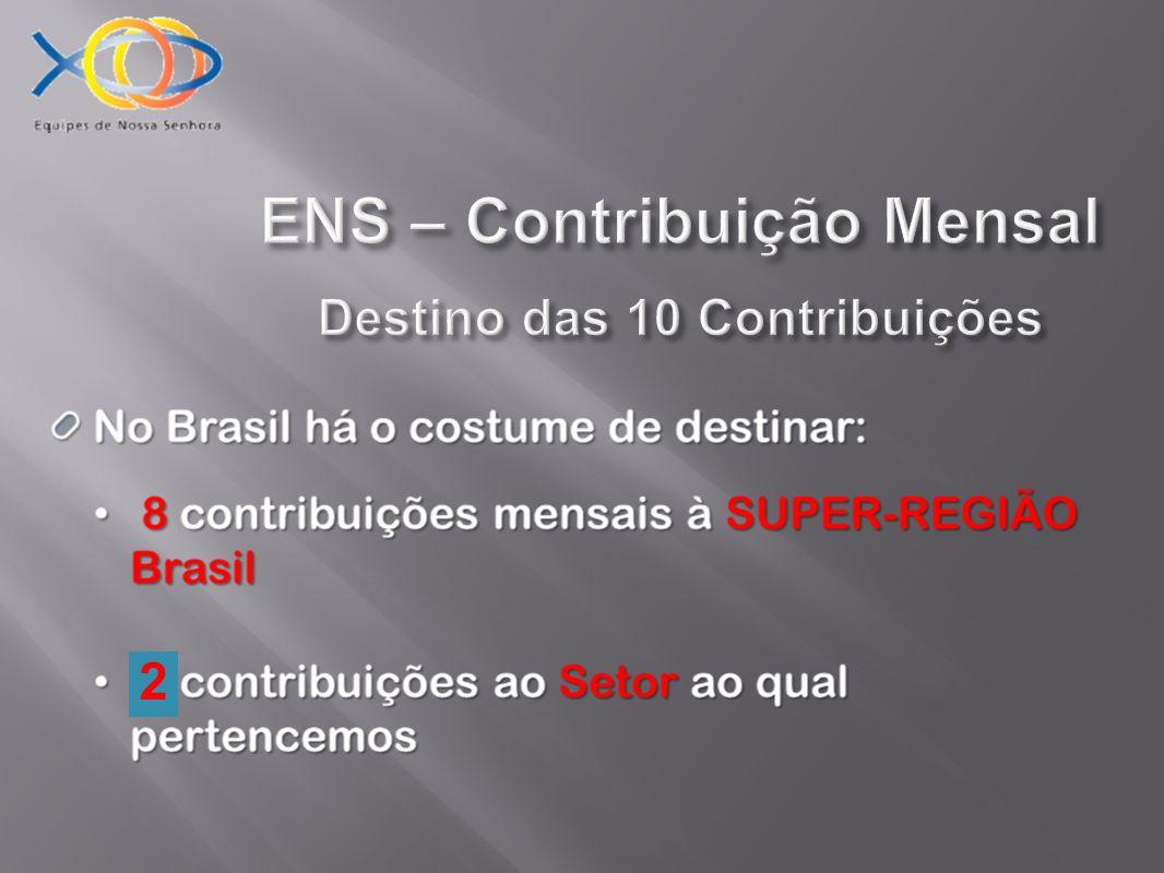 ENS – Contribuição Mensal Destino das 10 Contribuições 2