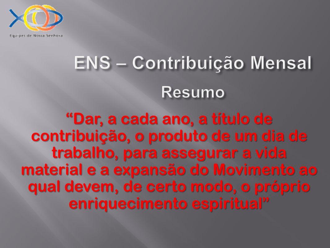 ENS – Contribuição Mensal Resumo