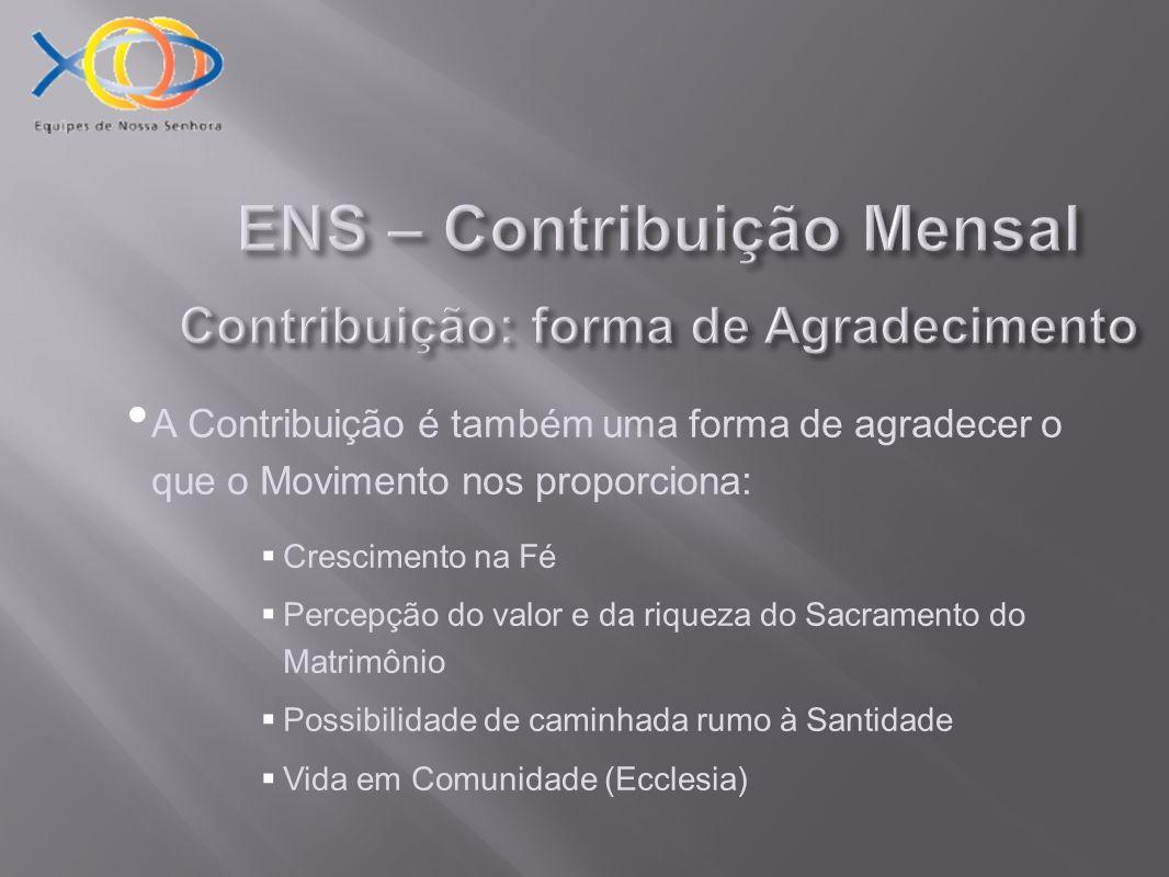 ENS – Contribuição Mensal Como contribuir.