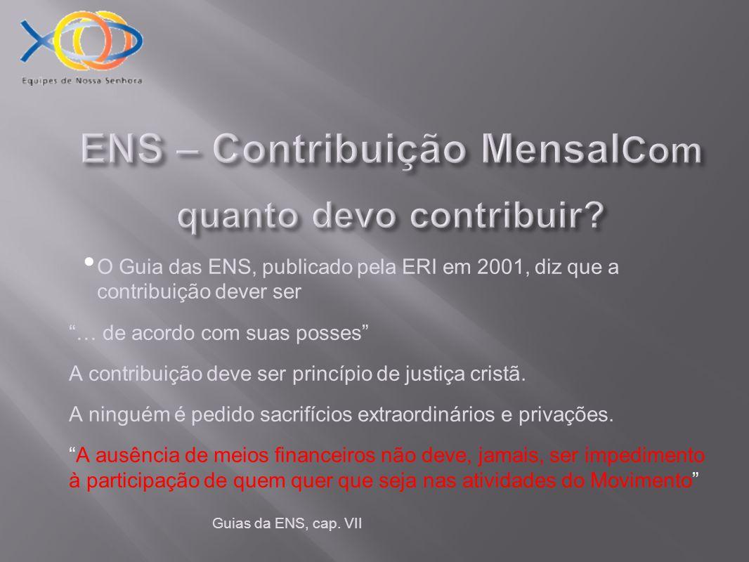 ENS – Contribuição Mensal Quem fiscaliza a sua Contribuição.
