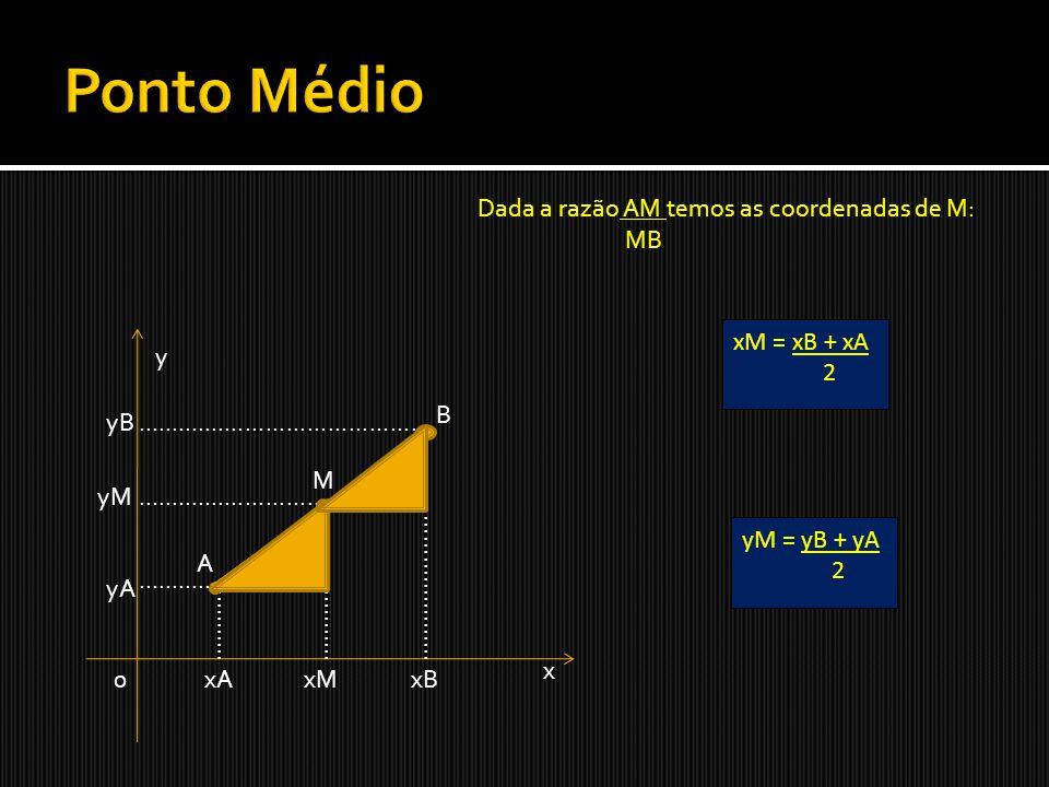 1.Determine o ponto médio do segmento PR, sendo P(3,6) e R(2,-8).