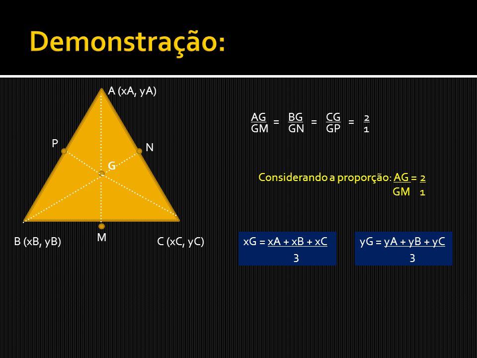 Seja um triângulo cujos vértices são: A(2,4), B(-1,5) e C(5,0).