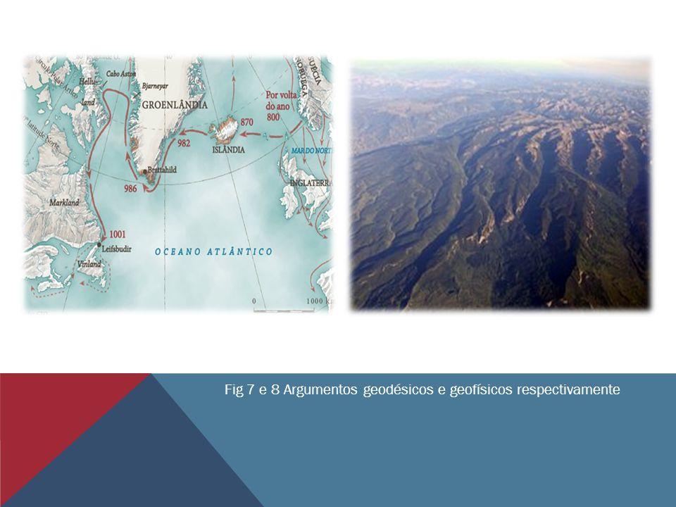 Fig 7 e 8 Argumentos geodésicos e geofísicos respectivamente