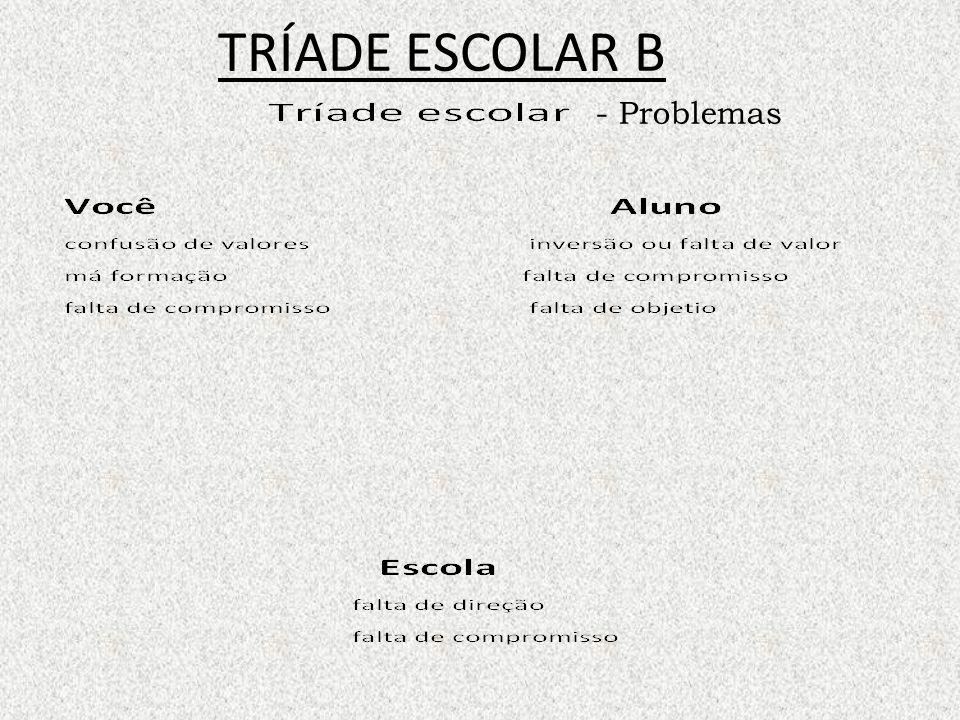 TRÍADE ESCOLAR B - Problemas