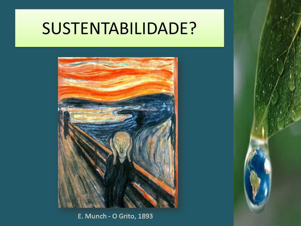 SUSTENTABILIDADE? E. Munch - O Grito, 1893
