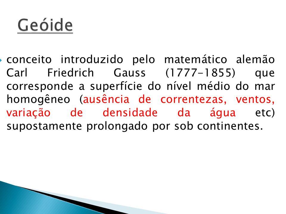 conceito introduzido pelo matemático alemão Carl Friedrich Gauss (1777-1855) que corresponde a superfície do nível médio do mar homogêneo (ausência de