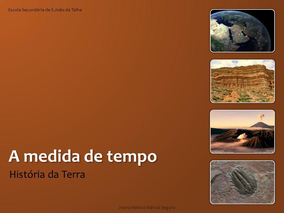Conceito de tempo em Geologia Joana Mina e Márcia Seguro Geologia Transformação geológica Fósseis Sucessão Cronologia