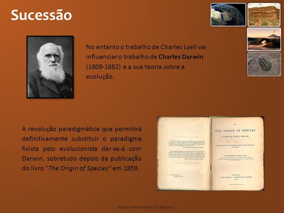 Sucessão Joana Mina e Márcia Seguro A revolução paradigmática que permitirá definitivamente substituir o paradigma fixista pelo evolucionista dar-se-á com Darwin, sobretudo depois da publicação do livro The Origin of Species em 1859.
