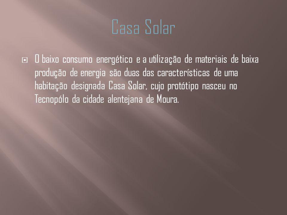O baixo consumo energético e a utilização de materiais de baixa produção de energia são duas das características de uma habitação designada Casa Solar