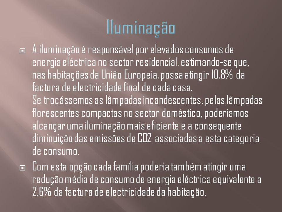 A iluminação é responsável por elevados consumos de energia eléctrica no sector residencial, estimando-se que, nas habitações da União Europeia, possa