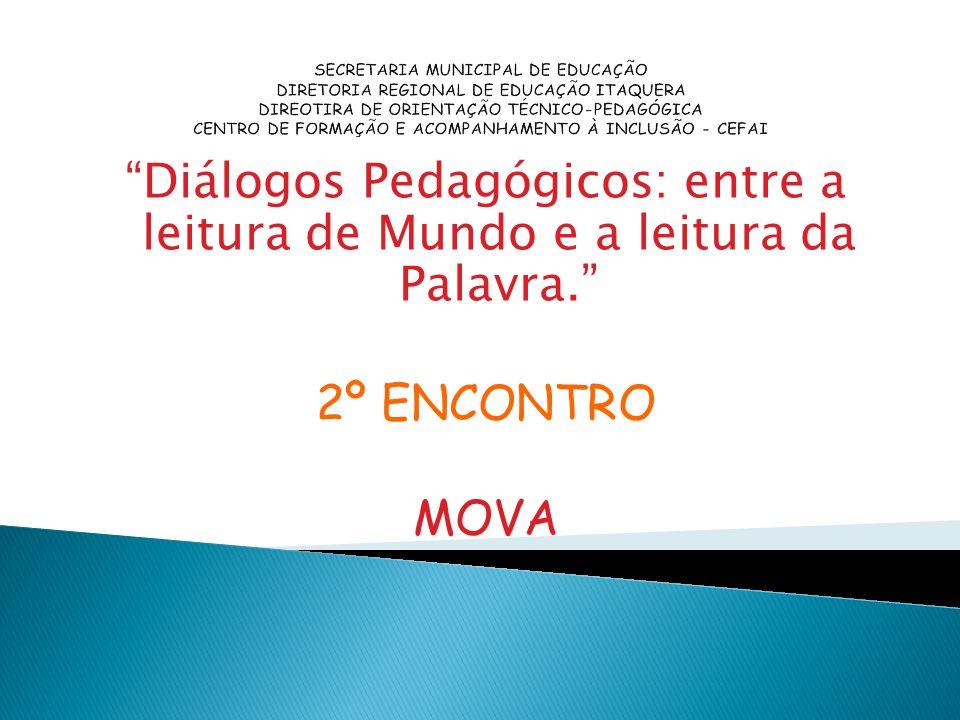 SECRETARIA MUNICIPAL DE EDUCAÇÃO DIRETORIA REGIONAL DE EDUCAÇÃO ITAQUERA DIREOTIRA DE ORIENTAÇÃO TÉCNICO-PEDAGÓGICA CENTRO DE FORMAÇÃO E ACOMPANHAMENT