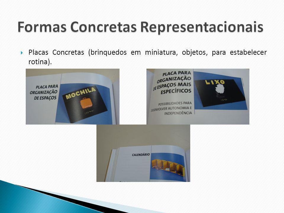 Placas Concretas (brinquedos em miniatura, objetos, para estabelecer rotina).
