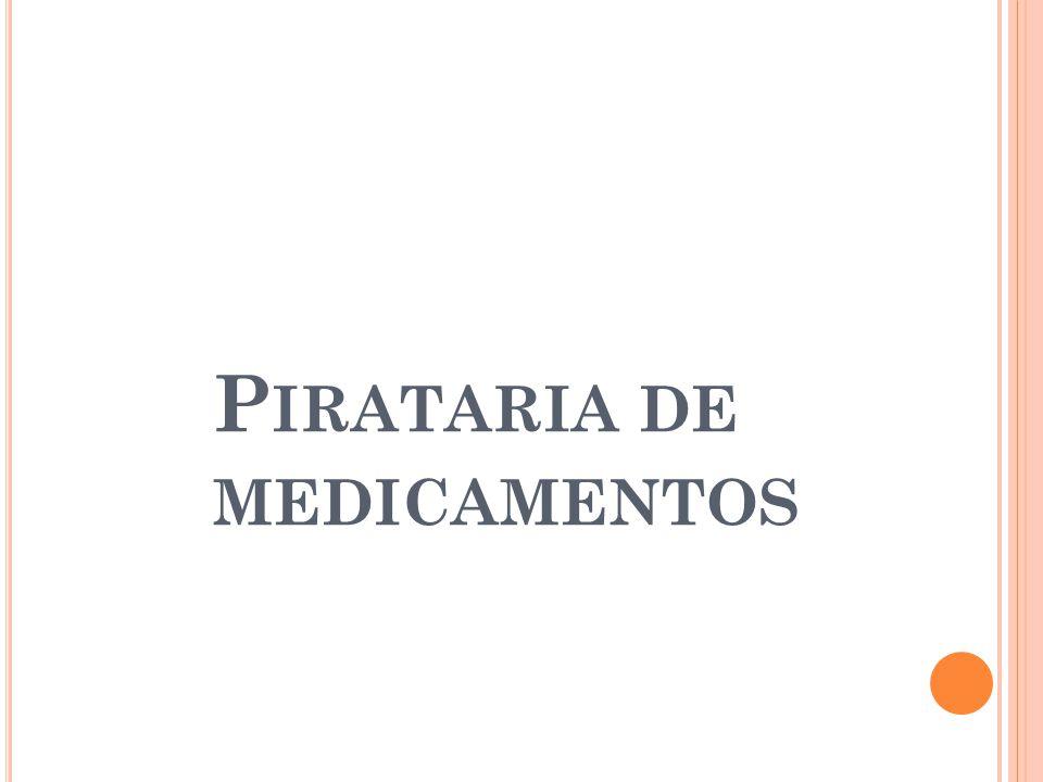 A pirataria vem sendo considerada pela Interpol como crime do século e uma das formas mais perversas de engano do consumidor é a pirataria de medicamentos.