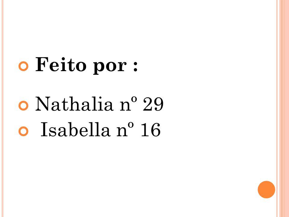 Feito por : Nathalia nº 29 Isabella nº 16