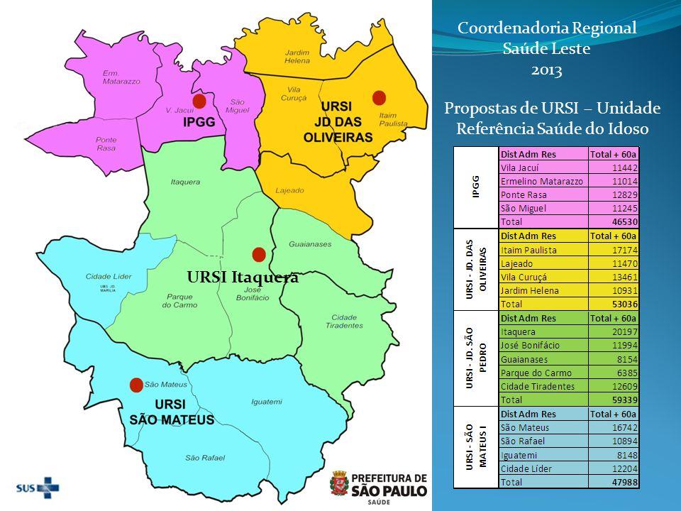 Número de Notificações de Acidentes e Agressões em idosos registradas no SIVVA por faixa etária, CRSL em 2013.