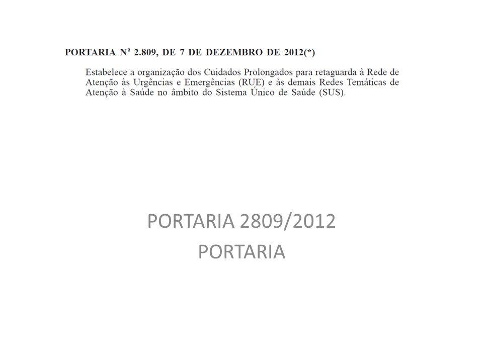 PORTARIA 2809/2012 PORTARIA