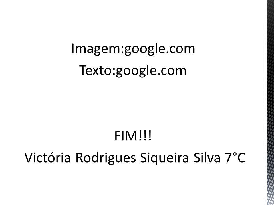 Imagem:google.com Texto:google.com FIM!!! Victória Rodrigues Siqueira Silva 7°C