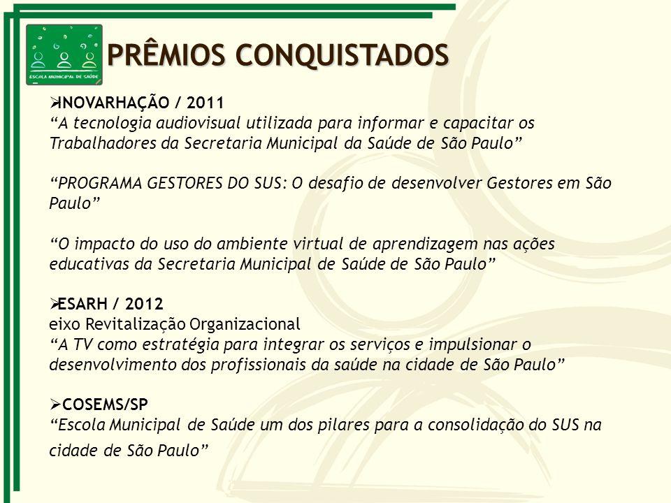 INOVARHAÇÃO / 2011 A tecnologia audiovisual utilizada para informar e capacitar os Trabalhadores da Secretaria Municipal da Saúde de São Paulo PROGRAM