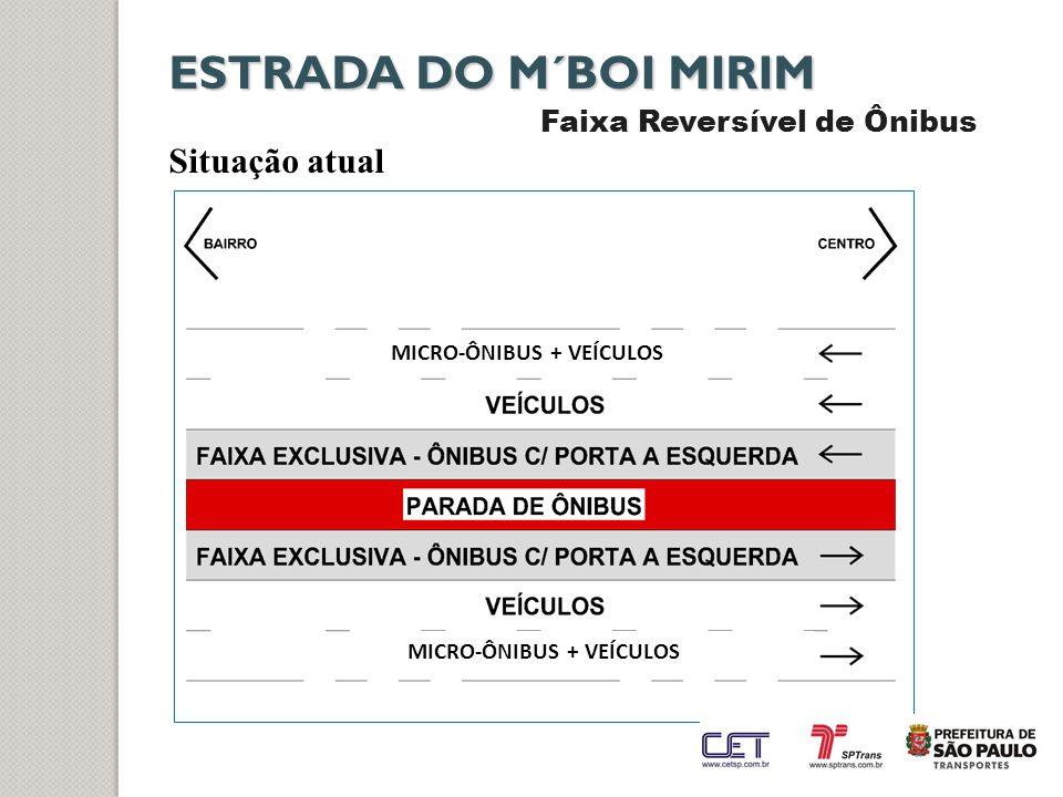 ESTRADA DO M´BOI MIRIM Faixa Reversível de Ônibus Situação atual MICRO-ÔNIBUS + VEÍCULOS