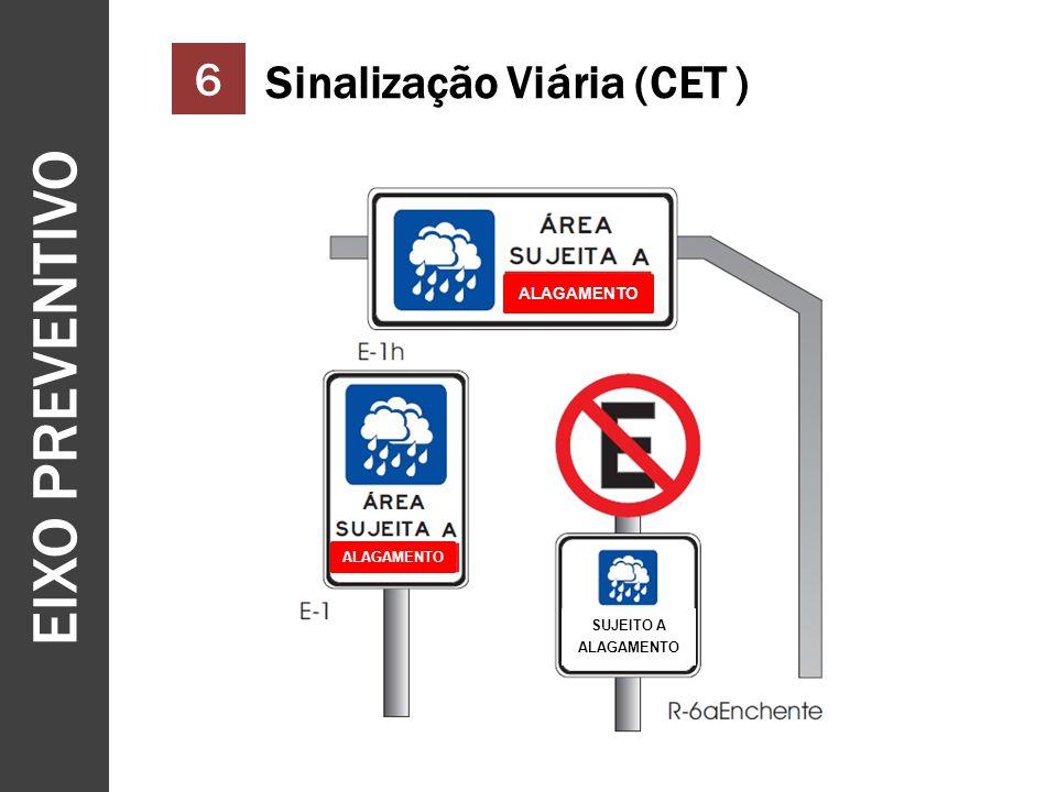 EIXO PREVENTIVO 6 Sinalização Viária (CET ) ALAGAMENTO SUJEITO A ALAGAMENTO