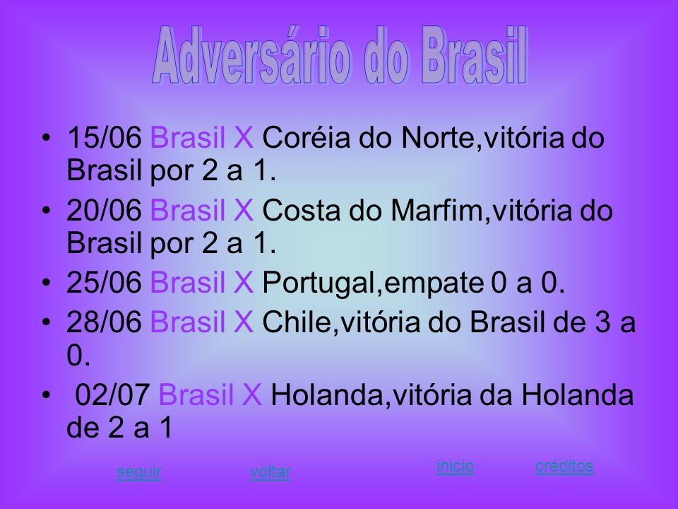 Na Copa do Mundo de 2010, quando o Brasil perdeu eu fiquei muito decepcionada, afinal já havia perdido em 2006.