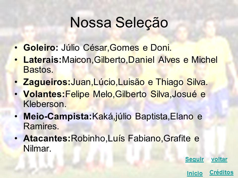 Nossa Seleção Goleiro: Júlio César,Gomes e Doni.