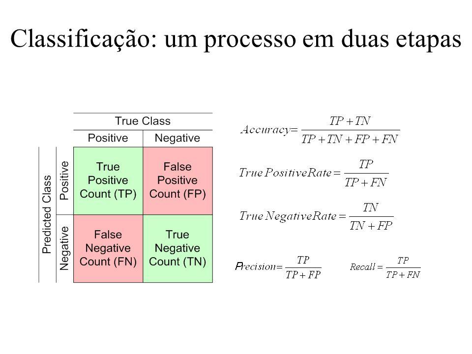 Classificação: um processo em duas etapas