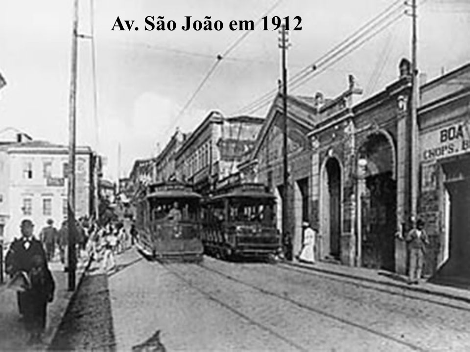 Av. São João em 1912