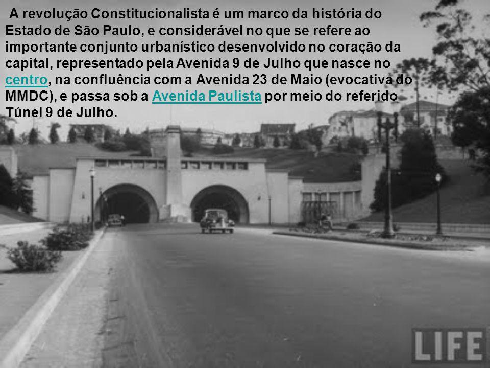 A revolução Constitucionalista é um marco da história do Estado de São Paulo, e considerável no que se refere ao importante conjunto urbanístico desen