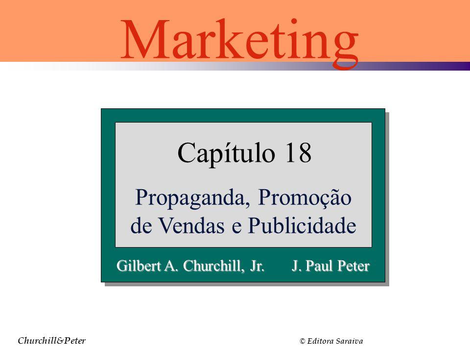 Churchill&Peter © Editora Saraiva Gilbert A. Churchill, Jr. J. Paul Peter Capítulo 18 Propaganda, Promoção de Vendas e Publicidade Marketing