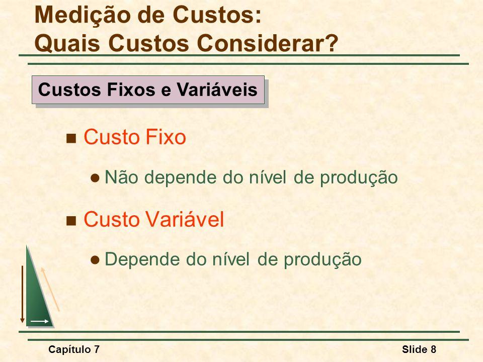 Capítulo 7Slide 49 Observações: Quanto mais fácil for a substituição de fatores no processo produtivo, mais eficaz será o imposto na redução do despejo de efluentes.