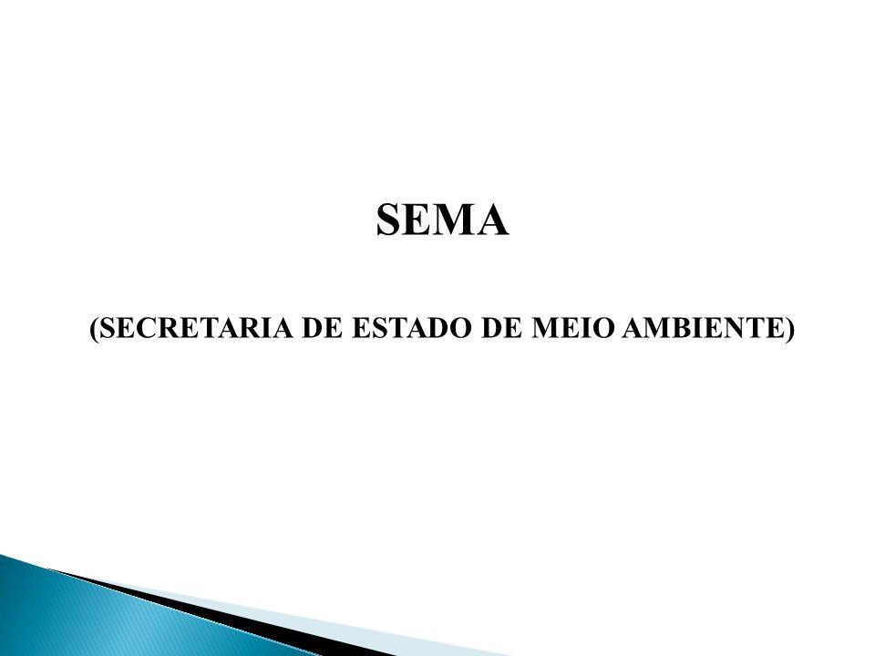A Secretaria do Meio Ambiente foi criada pela Lei n° 8.538, de 20 de dezembro de 2002.