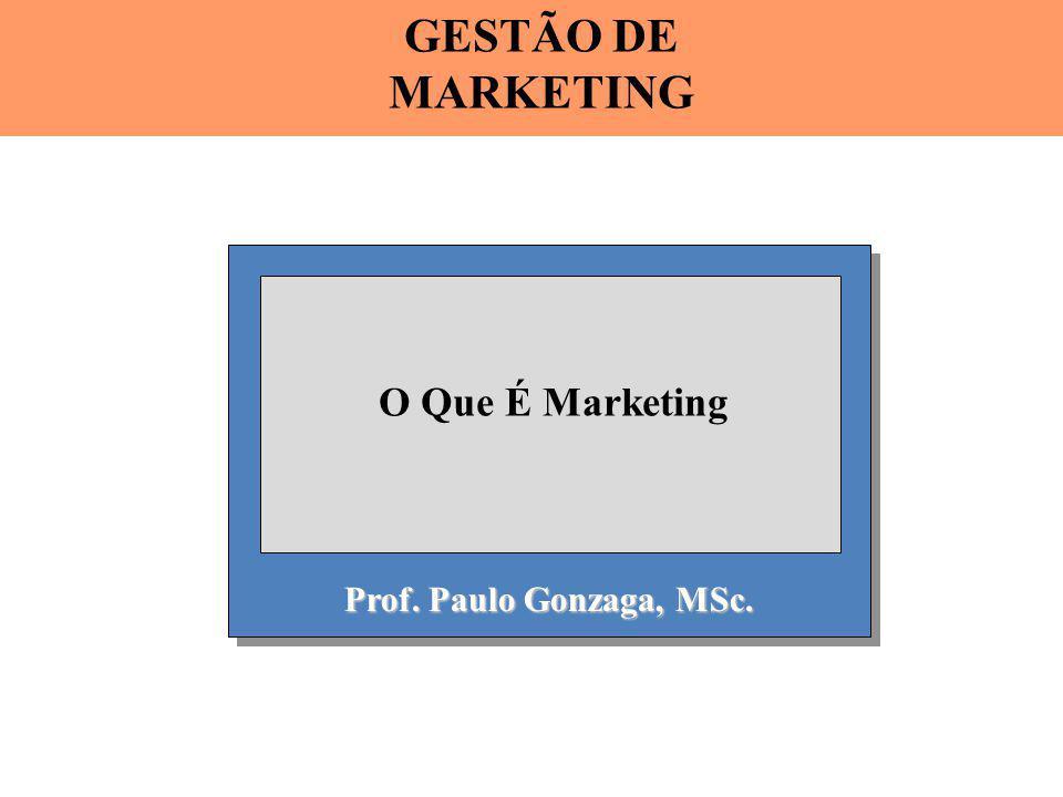Prof. Paulo Gonzaga, MSc. O Que É Marketing GESTÃO DE MARKETING
