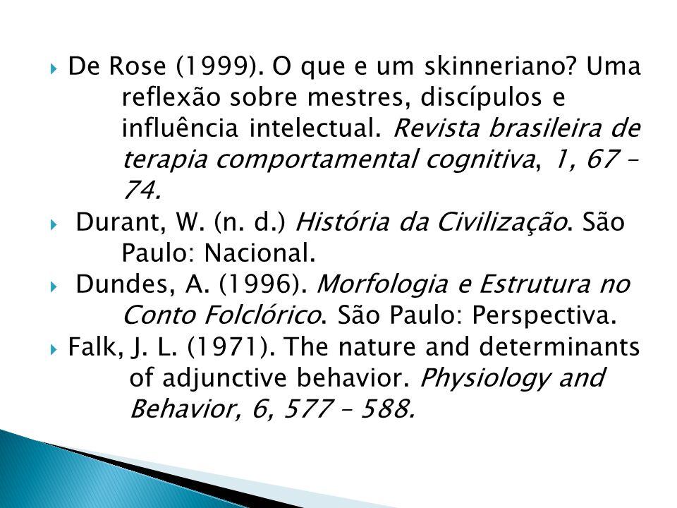 De Rose (1999).O que e um skinneriano.