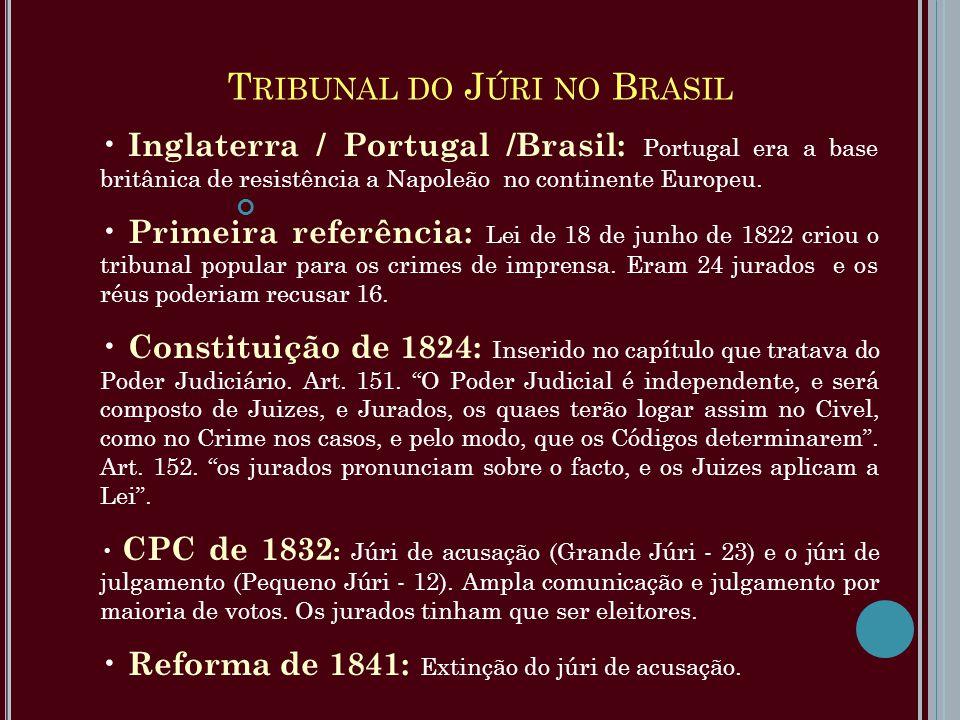 Inglaterra / Portugal /Brasil: Portugal era a base britânica de resistência a Napoleão no continente Europeu. Primeira referência: Lei de 18 de junho