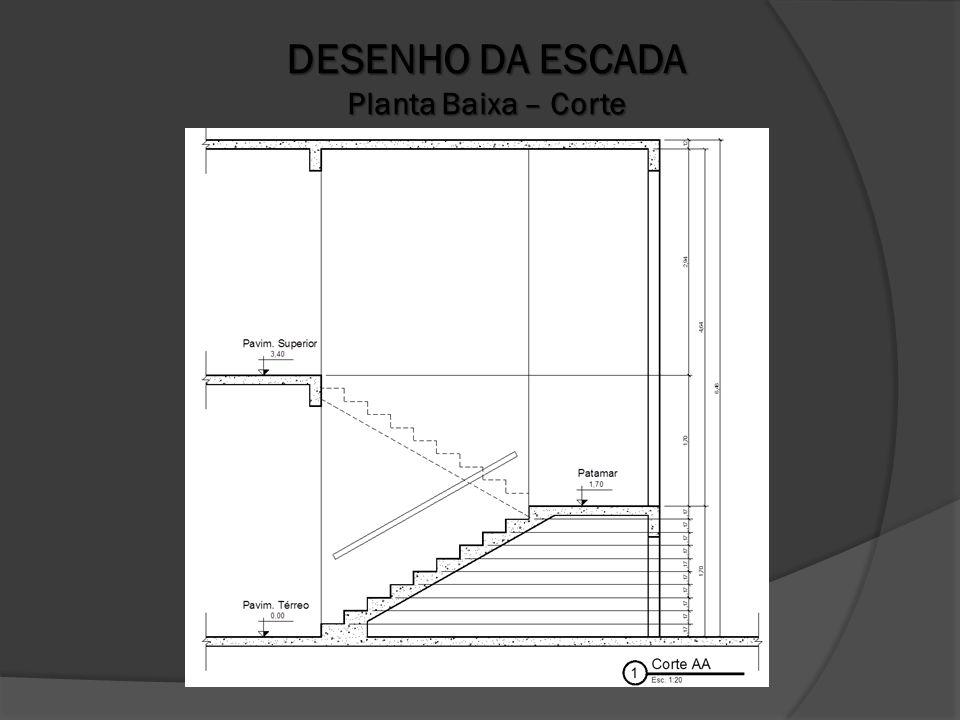 DESENHO DA ESCADA Planta Baixa – Corte