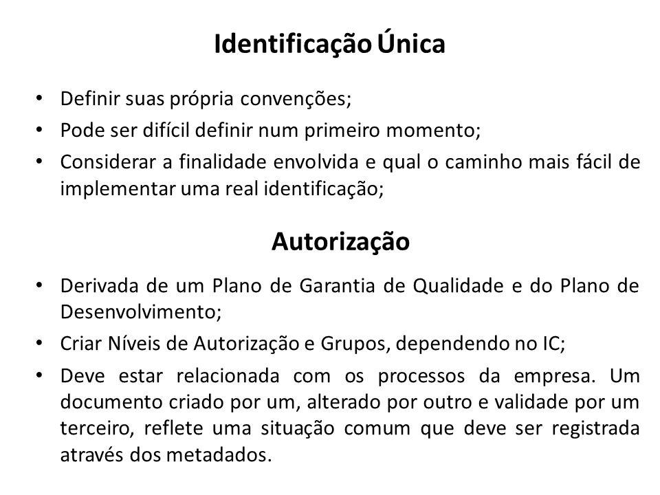 Papeis Papeis indicam o que pode fazer, em detalhes, com os IC e com o repositório em si.