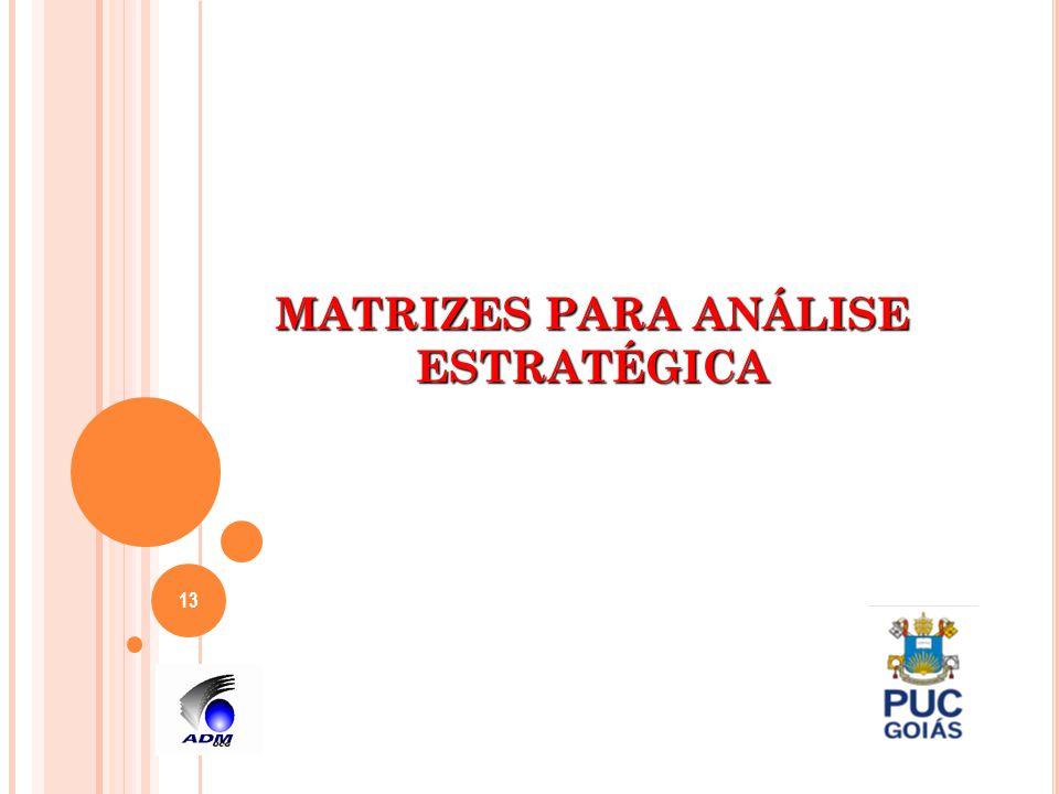 MATRIZES PARA ANÁLISE ESTRATÉGICA 13